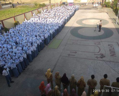 Apel SMK Nusa Mandiri bersama Kapolsek Ampelgading