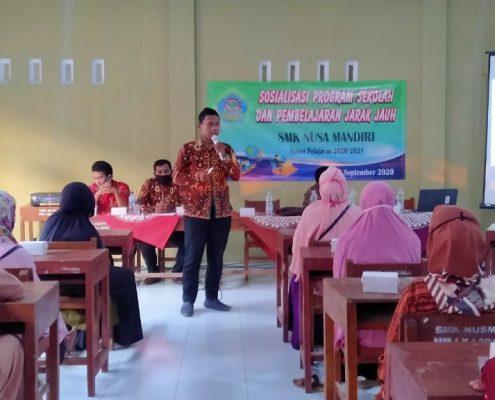 sosialisasi program sekolah dan PJJ