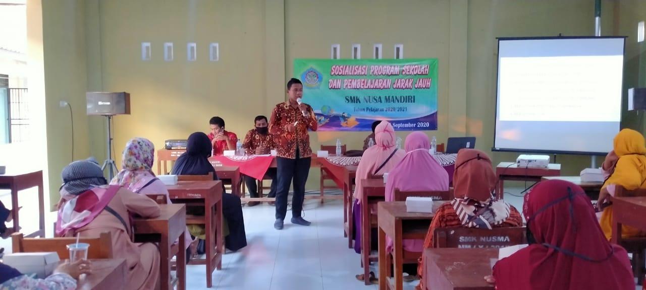 Sosialisasi Program Sekolah & Pembelajaran Jarak Jauh SMK Nusa Mandiri