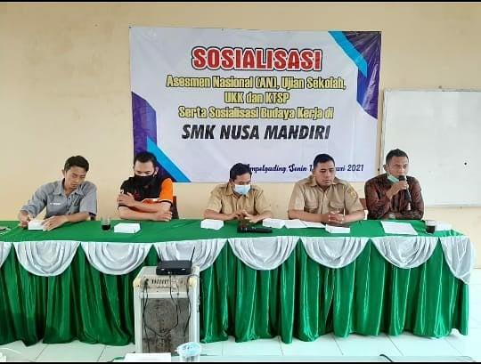 Sosialisasi Asesmen Kompetensi Minimum (AKM) SMK Nusa Mandiri