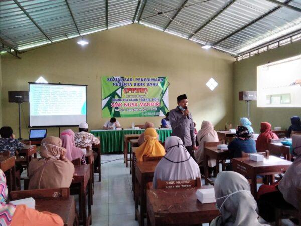 Sosialisasi Penerimaan Peserta Didik Baru Tahun Pelajaran 2021/2022